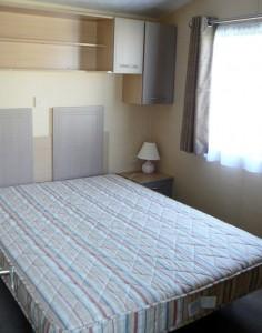 caravan double bedroom