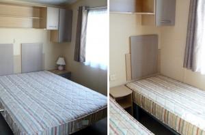 caravan double bedroom and twin double