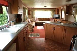 Rental 1 caravan kitchen